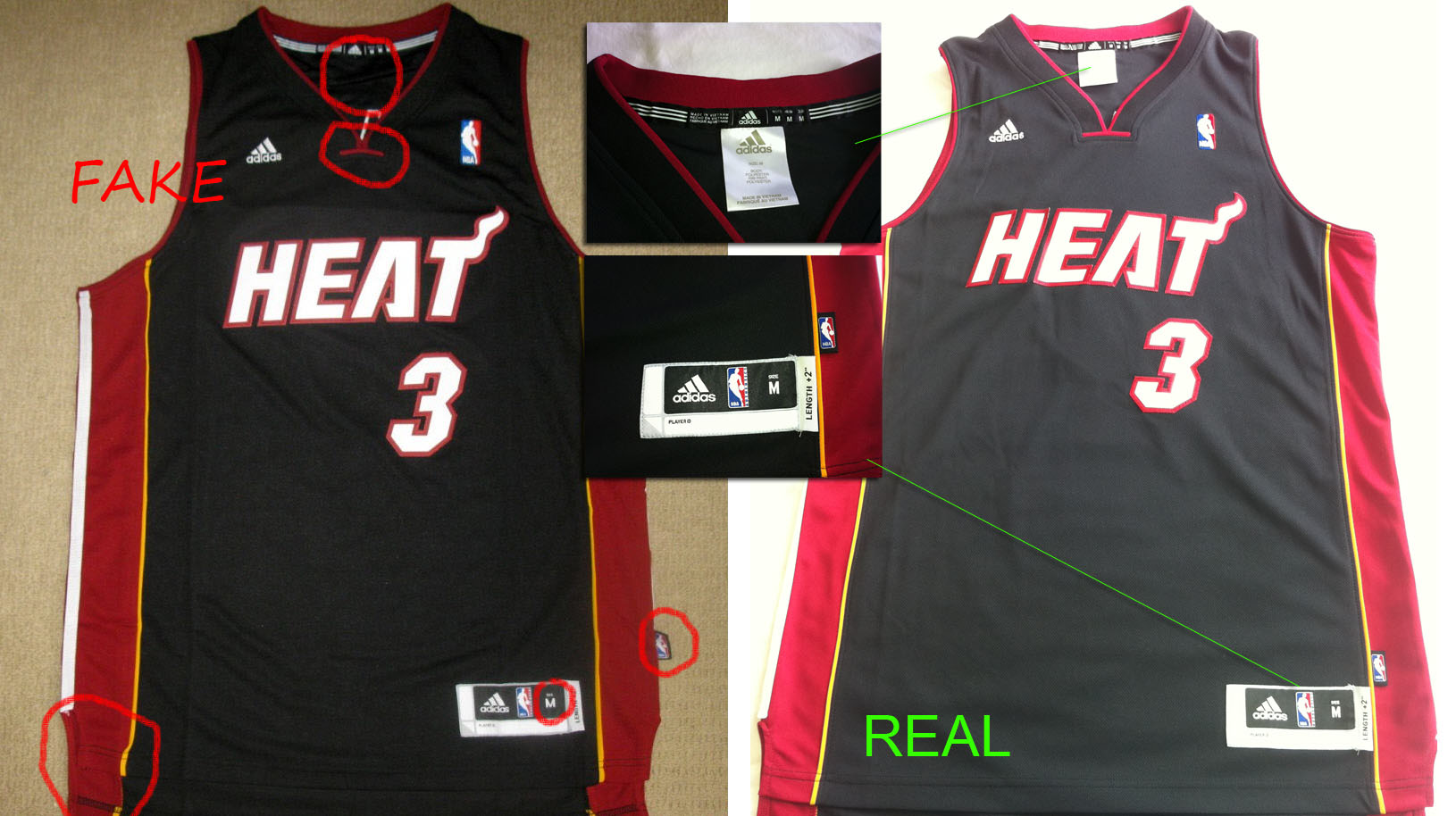 6445efa347fc How to spot fake NBA swingman Jerseys (On ebay trademe anywhere ...